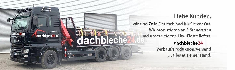 7x in Deutschland für Sie vor Ort. Wir produzieren an 3 Standorten und unsere eigene Lkw-Flotte liefert.