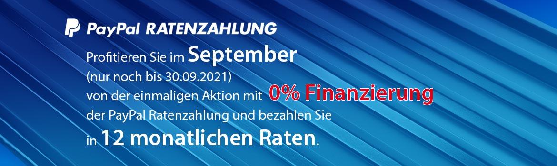 PayPal 0% Finanzierung im September 2021